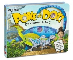 Melissa & Doug Melissa Doug Children's Book - Poke-a-Dot: Dinosaurs A to Z Board Book with Buttons to Pop