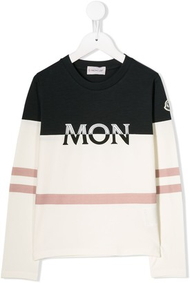 Moncler embroidered logo long sleeve top