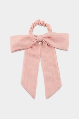 francesca's Gwendolyn Pony Bow - Blush