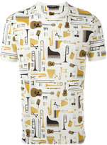 Dolce & Gabbana musical instrument print T-shirt - men - Cotton - 50
