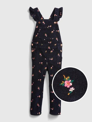 Gap Toddler Floral Skinny Overalls with Stretch