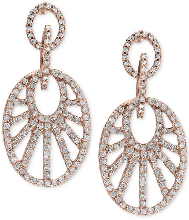 Effy Diamond Drop Earrings (7/8 ct. t.w.) in 14k Rose Gold