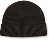 Margaret Howell Ribbed Merino Wool And Cashmere-blend Beanie - Gray