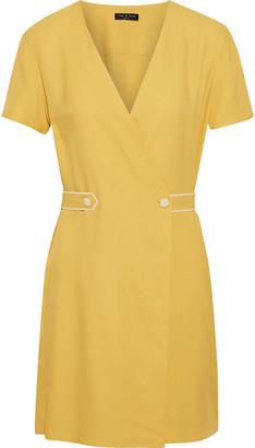 Rag & Bone Tabitha Textured-twill Mini Wrap Dress