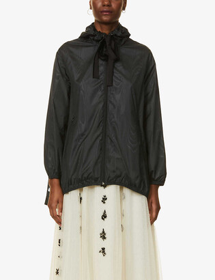 RED Valentino Drawstring-hood pleated shell jacket