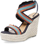 Manebi Women's Leather Espadrille Wedge Sandal