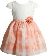 Youngland Baby Girl Rosette Basketweave Dress