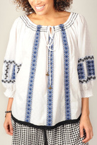 Ivy Jane Embroidered Peasant Top