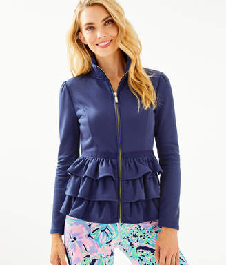 Lilly Pulitzer Azela Ruffle Fleece Jacket