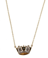 Annina Vogel Gold Pearl Crown Necklace