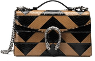 Gucci Dionysus Geometric Python Top Handle Bag