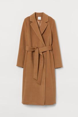 H&M Tie Belt Coat - Beige