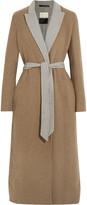 By Malene Birger Belted two-tone felt coat
