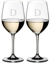 Riedel Vinum Monogram Collection 2-Pc. Block Letter Chardonnay/Chablis Wine Glasses