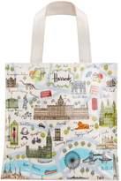 Harrods Small London Map Shopper Bag