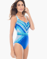 Chico's Blue Jasmine One-Piece Swimsuit