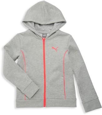 Puma Girl's Cotton-Blend Hoodie