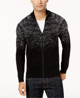 INC International Concepts Men's Two-Tone Zip Sweater, Created for Macy's