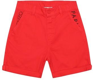 Kenzo Kids Cotton twill shorts