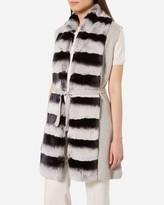 N.Peal Long Fur Placket Milano Gilet