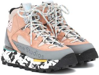 Acne Studios Bertrand paneled suede sneakers