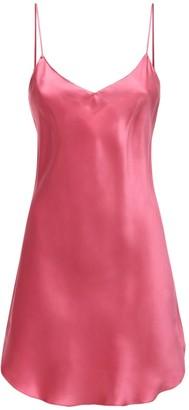 Luna Di Seta Silk Satin Slip Mini Dress