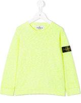 Stone Island Junior - logo patch sweatshirt - kids - Cotton/Polyamide - 3 yrs