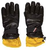Moncler Contrast Leather Gloves