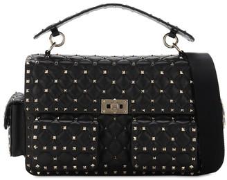 Valentino Rockstuds Multi Pocket Leather Spike Bag