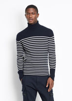 Vince Cashmere Stripe Turtleneck