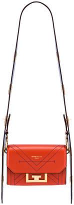 Givenchy Nano Eden Leather Contrasted Details Bag in Dark Orange | FWRD
