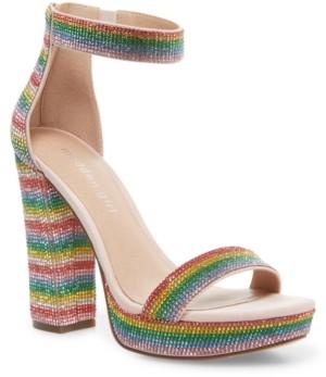 Madden-Girl Siren Rhinestone Platform Sandals