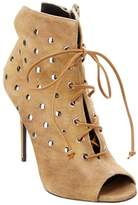 Giuseppe Zanotti Embellished Suede Lace-up Bootie.