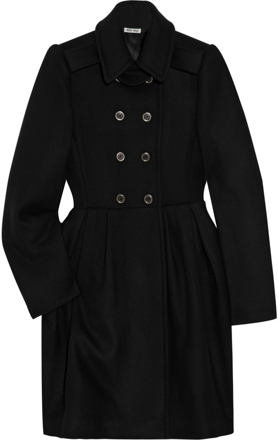 Miu Miu Pleated wool coat