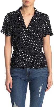 Elodie K Notch Collar Button Front Blouse