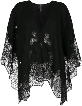 Ermanno Scervino Floral Lace Knitted Scarf