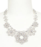Kate Spade Crystal Lace Floral Statement Necklace