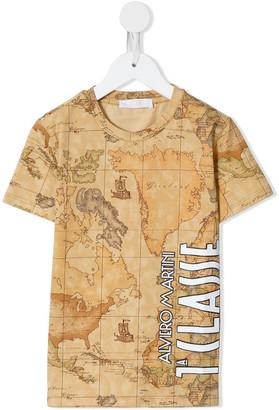 Alviero Martini Kids map print T-shirt