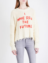 Wildfox Couture I Have Seen The Future chunky-knit jumper