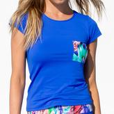 Luli Fama Cutout Back T-Shirt In Multicolor (F509F02)