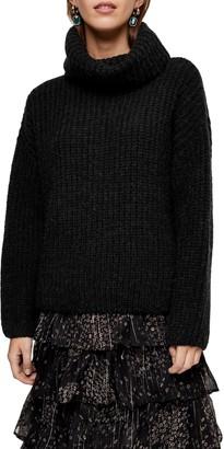 Topshop Turtleneck Rib Knit Sweater