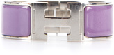 Hermes Fucshia Enamel Silver Wide Clic Clac PM Bracelet