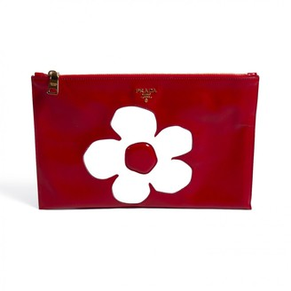 Prada Red Patent leather Clutch bags