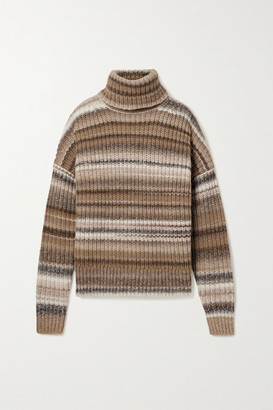 Altuzarra Kelley Oversized Striped Wool-blend Turtleneck Sweater - Brown