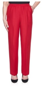 Alfred Dunner Women's Classic Textured Proportioned Medium Pant