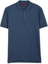 Hugo Delorian Blue Piqué Cotton Polo Shirt