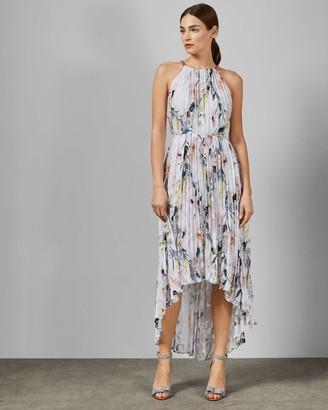 Ted Baker Elegant Pleated Dip Hem Dress