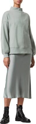 AllSaints Nevarra Mock Neck Sweatshirt & Slipdress