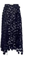 Marni Black Skirt In Macrame' Dots