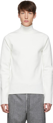 Jil Sander White Flyer Patch Turtleneck Sweater